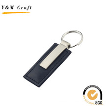 Top Sale Blank Metal PU Leather Key Ring for Car