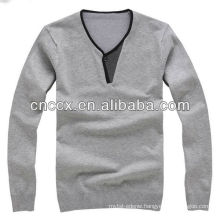 13STC5468 man's v-neck pullover sweater