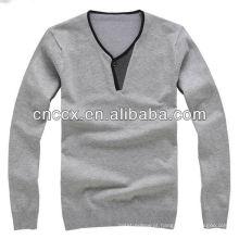 13STC5468 camisola do pulôver de homem com decote em v