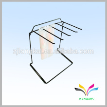 Metal wire coated display rack shelf for supermarket