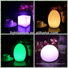 Color change LED home goods table lamps for bar or hotel
