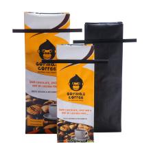 Quad Seal Coffee Bag, Tin Tie Coffee Bag
