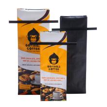 Bolsa de café Quad Seal, Bolsa de café con lazo de estaño