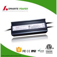 CE ETL FCC listed 12v 80 watt led driver 0-10v dimming