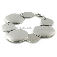 Bijoux Fashion Stainless Steel Polished Multi Size Circle Bracelet Vners