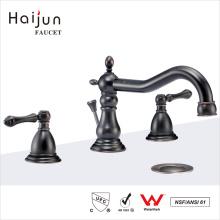 Haijun Super September Purchasing Three Holes Dual Handle Hot And Cold Mixer Basin Faucets