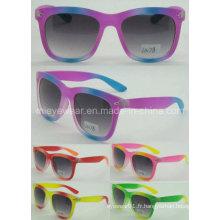 Lunettes de soleil colorées UV400 de protection à la mode à la mode (LS178)
