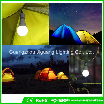Outdoor Emergency Bulb 9W Camping Lamp with Portable LED Lantern Tent Light Hiking Night Lighting
