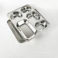1 дюйм глубокие прямоугольные тарелки из нержавеющей стали