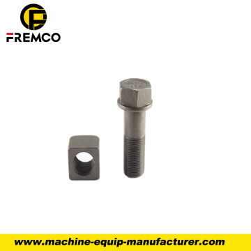 Excavator Track Shoe Bolt with Nut