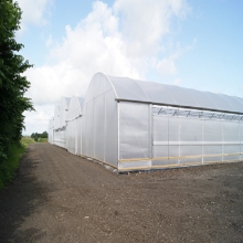 Best quality and factory for Pc Board Greenhouse Reinforced Commercial Plastic Greenhouse with Equipment supply to Faroe Islands Wholesale