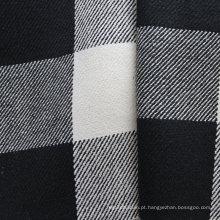 Tela de xadrez de tingido de fios de cânhamo (QF13-0074)