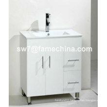 2013 White High Gloss MDF Hotel Bathroom Vanity Unit