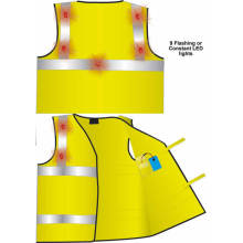 Safeways Waistcoat with 6 Flashing LED Lights