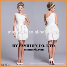 2016 um ombro curto dobra vestido de casamento inchado