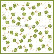 Mão impresso pequeno quadrado 100% lenço de seda Novos produtos quentes para 2014