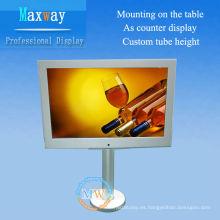 pantalla de 10 pulgadas escritorio lcd publicidad