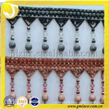 Factory Supply High Quality Beaded Fringe , Curtain Decorative Yarn Viscose