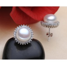 Fresh Water Pearl Earrings AAA 8-9mm Fashionable Pearl Earrings Design