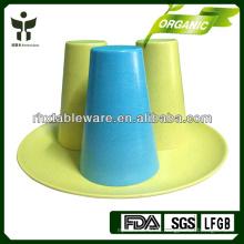 Venta al por mayor biodegradable de la taza del cofre de bambú