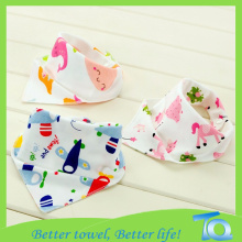 Infant Animal Waterproof Knitting Bandana Bibs