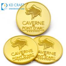 Wholesale Bulk Cheap Custom Make Your Own Blank Metal Embossed Logo Commemorative Gold Souvenir 3D Challenge Coin for Sale