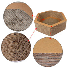 Discount Price Pet Film for Hexagon Model Cattery Scratching Board Relax Cat Scratcher Bed in stock export to China Hong Kong Manufacturers