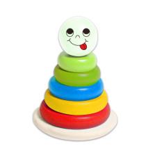 Kleine Stacking Block Tower Holzspielzeug für Babys und Kinder
