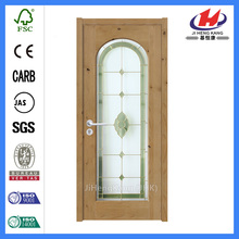 *JHK-G03 Glass Mdf Door Commercial Double Glass Doors Flower Designs For Glass Doors