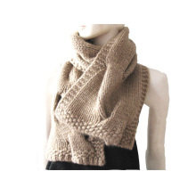 100%Cashmere Big Cable Scarf