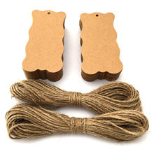 MOQ 500 Brown Kraft Paper Clothing Marking Tag