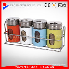 Stainless Steel Salt and Pepper Bottle Shakers Set