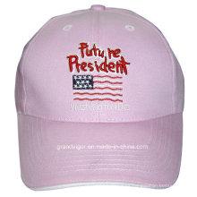 Gorra de béisbol de algodón de chica con sándwich y bordado