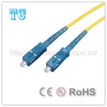Certificado Ce / UL Sc a Sc Puente de fibra óptica monomodo
