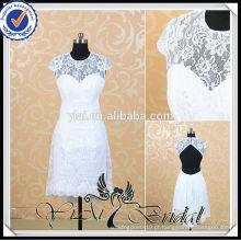 RSW517 White Lace Country Sexy vestidos curtos de casamento