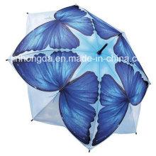 8 Panels Schmetterlingsmuster gerader Regenschirm (YSC0016)