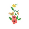 Preço EXW Remendos de bordado de flor rosa personalizados