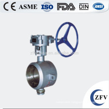 butt weld wafer type metal hard seal butterfly valve