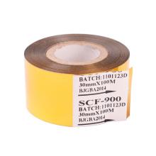 SCF-900 Gold Hot Stamp Color Ribbons Coding Printer Machine Tapes - 30mm*100m