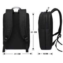 Multifunctional Waterproof Laptop Computer Black School Work Travel Backpack Men Business Bag