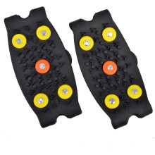 Outdoor Round 5 Teeth Silicone Crampons Antiskid Shoe Covers