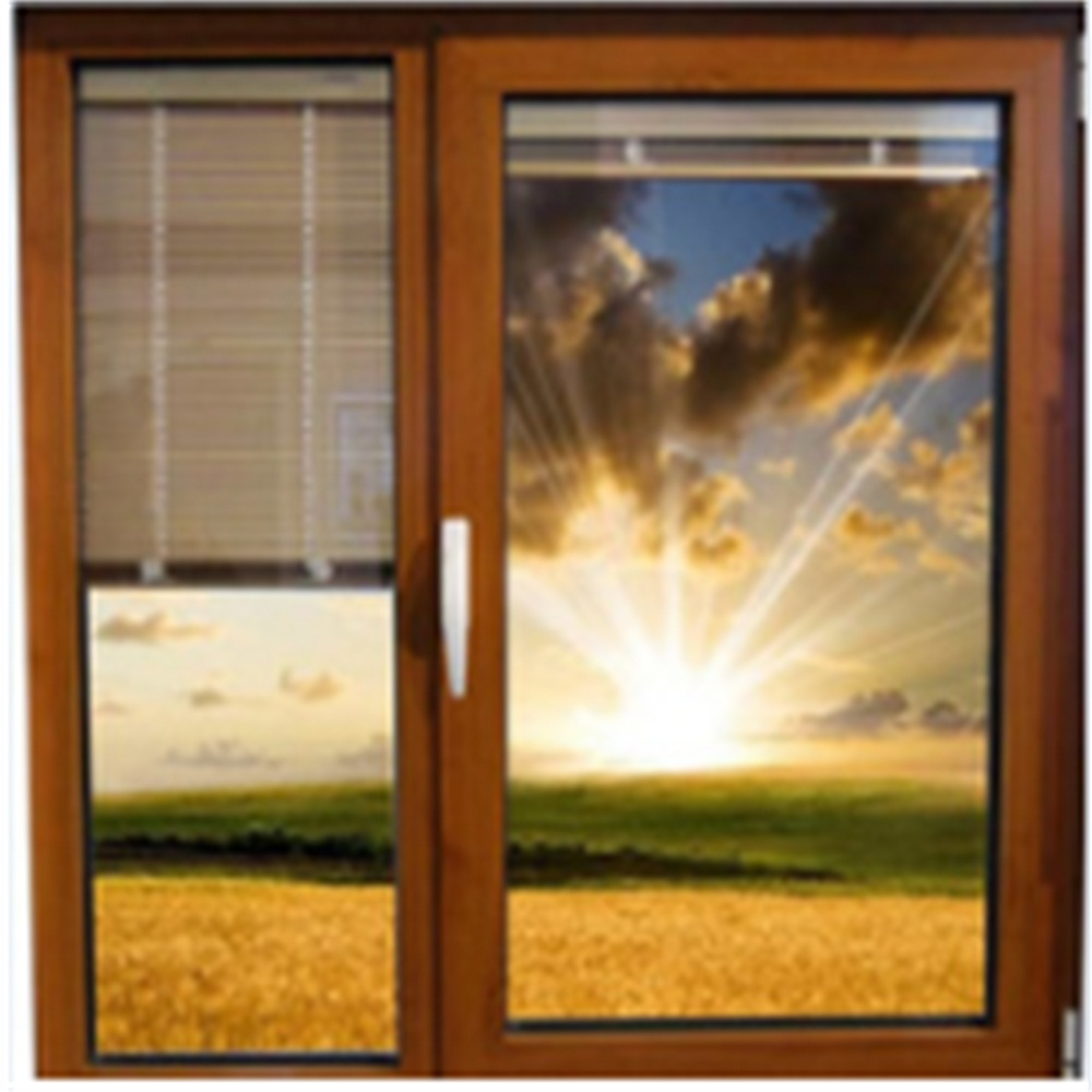 casement door with roller blind