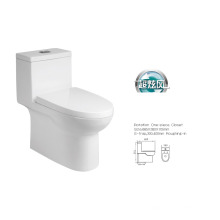 "Cupc elongated one piece toilet bowl, DuraStyle 1-Piece Toilet, 12"" Rough-In, Bowl Only"