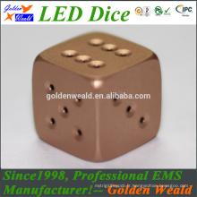 19MM MCU contrôle coloré LED alliage d'aluminium dice dés
