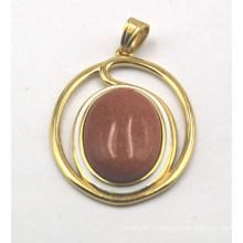 Nouveau pendentif plaqué or avec 18 * 25mm Gemstone