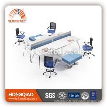(MFC) PT-03 meubles de bureau cadre en acier inoxydable de haute qualité pour 4 personnes poste de travail