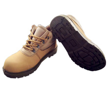 Yellow Colour Casual Type Genuine Leather Steel Toe  china designer double  Safety Safety Shoes