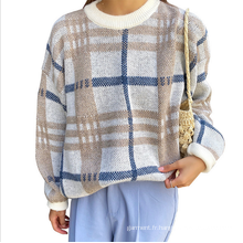 Pull col rond manches longues automne et hiver
