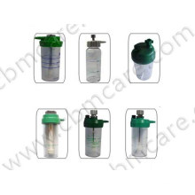 Oxygen Breathing Humidifier Bottles for Medical Gas Oxygen Delivery System.