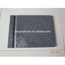 planche à découper rectangulaire en granit noir